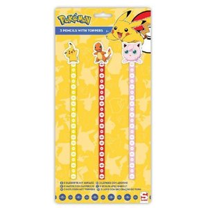 Pokémon Pencil with Topper 3-Pack