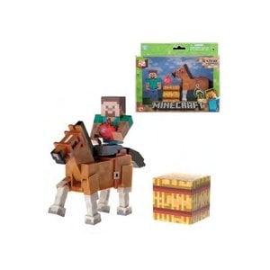 Minecraft Steve & Chestnut Horse