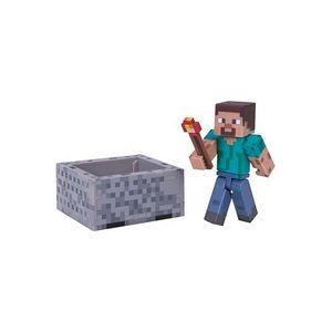 Minecraft Steve with Minecart