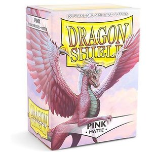 Dragon Shield Standard Sleeves Matte Pink (100 Sleeves)