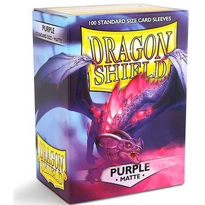 Dragon Shield Standard Sleeves Matte Purple (100 Sleeves)