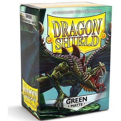 Dragon Shield Standard Sleeves Matte Green (100 Sleeves)