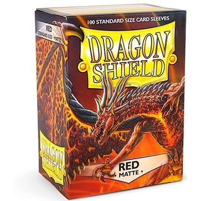 Dragon Shield Standard Sleeves Matte Red (100 Sleeves)