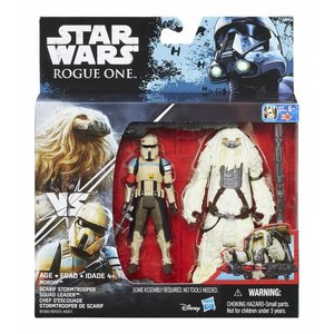 Star Wars Hasbro Rogue One Action Figure 2-pack 10 cm Moroff & Scarif Stormtrooper Squad Leader