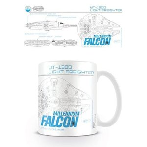Star Wars Mug Millenium Falcon Sketch