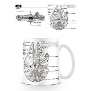 Star Wars Mug Millennium Falcon Sketch