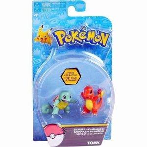 Tomy Pokémon Squirtle vs Charmander Action Figure 6 cm