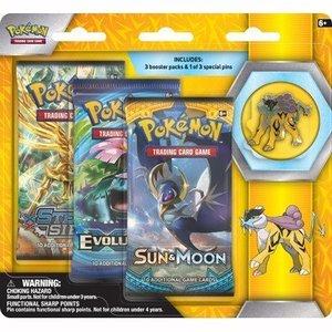 Pokemon TCG Raikou Legendary Beasts Collectors Pin 3 Pack