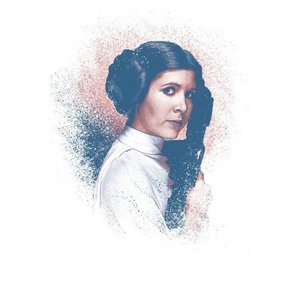 Star Wars Metal Poster Successors Collection Leia Organa 32 x 45 cm