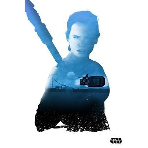 Star Wars Metalen Poster Rey 32 x 45 cm