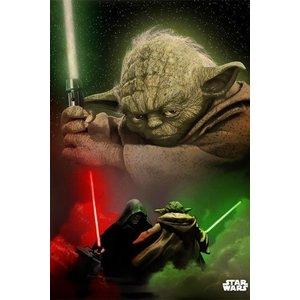 Star Wars Metalen Poster Yoda 32 x 45 cm