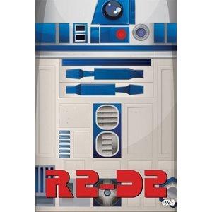 Star Wars Metalen Poster Minimalist R2-D2 32 x 45 cm