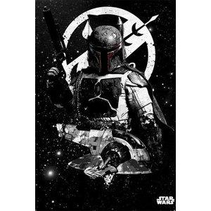 Star Wars Metalen Poster Slave 1 32 x 45 cm