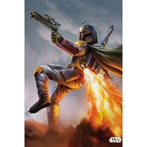 Star Wars Metalen Poster Episode IV Boba Fett 32 x 45 cm