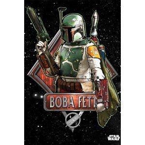 Star Wars Metalen Poster Boba Fett Emblem 32 x 45 cm