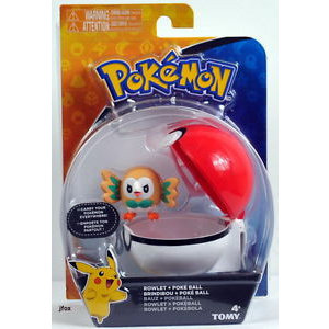 Tomy Pokémon Rowlet + Poke Ball Clip'n'Carry Wave D9