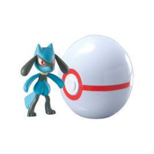 Tomy Pokémon Riolu + Premier Ball Clip'n'Carry Wave D7