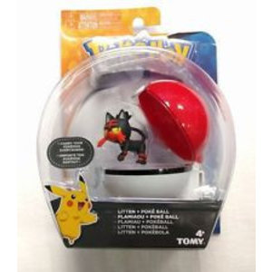 Tomy Pokémon Litten + Poke Ball Clip'n'Carry Wave D9