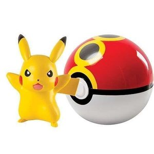 Tomy Pokémon Pikachu + Repeat Ball Clip'n'Carry Wave D7