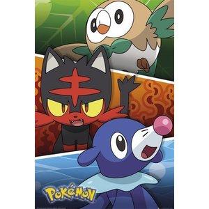 Pokémon Sun and Moon Posters Alola Partners 61 x 91 cm