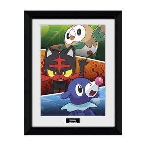 Pokémon Sun and Moon Ingelijste Poster Alola Partners 45 x 34 cm
