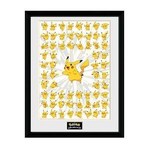 Pokémon Ingelijste Poster Pikachu Pose 45 x 34 cm