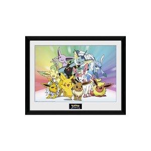 Pokémon Ingelijste Poster Eeevee & Friends 45 x 34 cm
