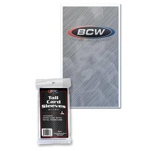 BCW Tall Card Sleeves - 2 5/8 X 4 13/16