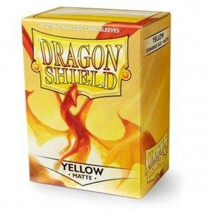 Dragon Shield Standard Sleeves Matte Yellow (100 Sleeves)