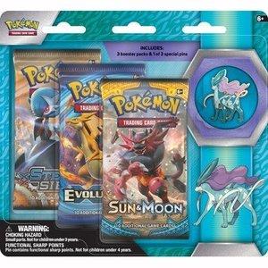 Pokemon TCG Suicine Legendary Beasts Collectors Pin 3 Pack