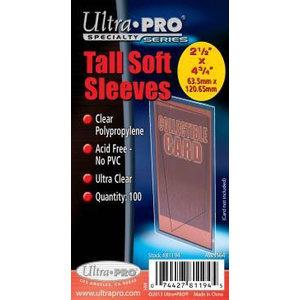 Ultra Pro Tall Soft Sleeves 2 1/2 X 4 3/4