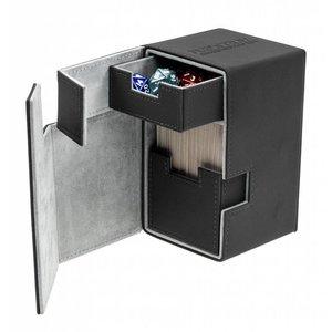 Ultimate Guard Flip'n'Tray Deck Case 100+ Standard Size XenoSkin Black