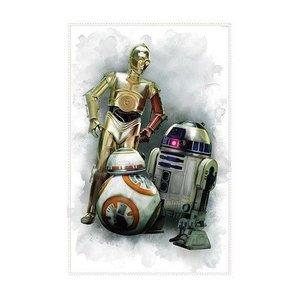 Star Wars Muursticker Star Wars RoomMates: Robots