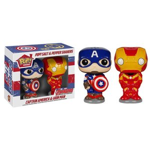 Funko POP! Avengers Age of Ultron POP! Home Salt and Pepper Pots Captain American & Iron Man