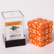12mm D6 36 Dice Set - Opaque Orange