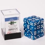12mm D6 36 Dice Set - Marbled Light Blue