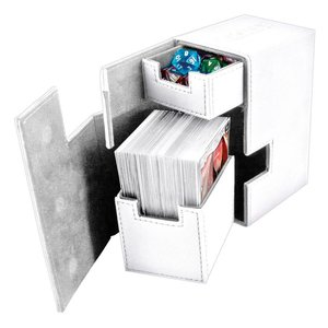 Ultimate Guard Flip'n'Tray  Deck Case 80+ Standard Size XenoSkin White