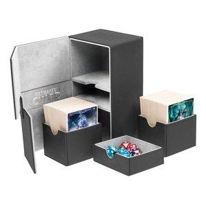 Ultimate Guard Twin Flip'n'Tray Deck Case 160+ Standard Size XenoSkin Black