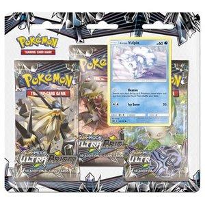Pokemon TCG Vulpix Ultra Prism 3-booster blister
