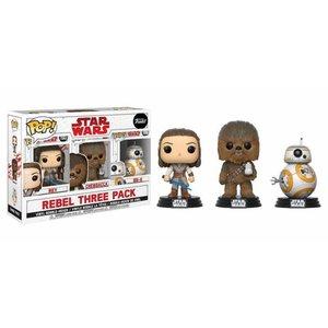 Funko POP! Star Wars Episode VIII POP! Vinyl Figure 3-Pack Rebel 9 cm