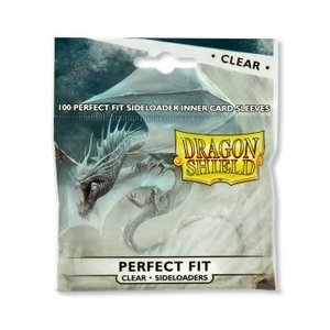 Dragon Shield Standard Perfect Fit Sideloading Sleeves - Clear/Clear (100 Sleeves)