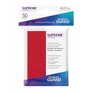 Supreme UX Sleeves Standard Size Red (50)