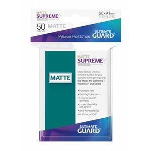 Supreme UX Sleeves Standard Size Matte Petrol Blue (50)