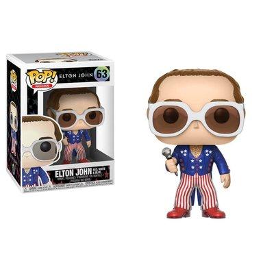 Funko POP! Elton John POP! Rocks Vinyl Figure Elton John Red, White & Blue 9 cm