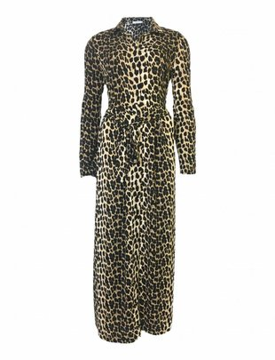 Savannah Leopard Long Dress