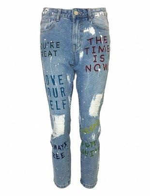 Good Vibrations Painted Boyfriend Jeans