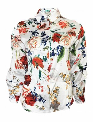 Floral Waterfall Blouse