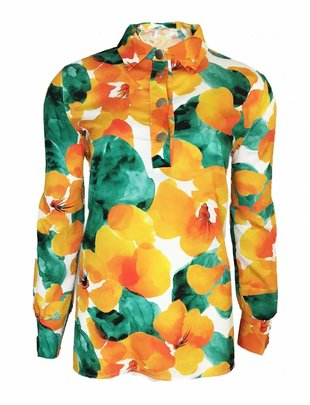 Orange Flower Blouse