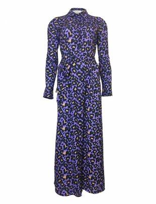 Purple Leopard Long Dress