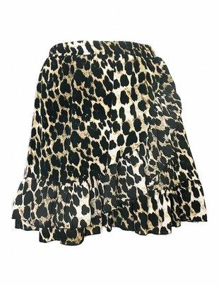 Fringe Leopard Skirt
